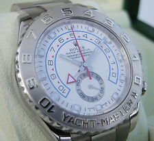 Rolex Yacht-Master II Model 116689 Mens White Gold Oyster White Dial 44MM