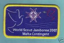 2007 World Scout Jamboree MALTA / MALTESE SCOUTS Contingent Patch