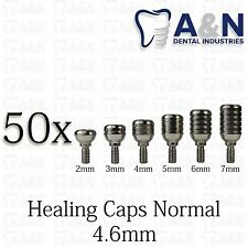 50 Healing Cap Normal 4.6mm for Dental Instruments Internal Hex Lab HQ