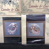 Lavender & Lace Angel Of Spring & Summer 2 Cross Stitch Pattern Leavitt-Imblum