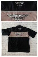 Harley Davidson Cafe Las Vegas XXL SS Button Up Mechanic Garage Shirt Eagle