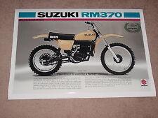 1976 Suzuki Rm370 Vintage Dirt Bike Motorcycle Ad Poster Print 25x36 9Mil Paper