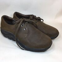 MERRELL Jungle Smooth Womens Loafer Moc Brown Nubuck Leather Shoes Size 9