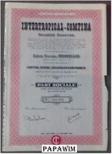 INTERTROPICAL-COMFINA SA - Brussel - part sociale- 12 juni 1963
