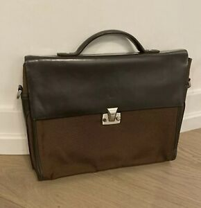 Dunhill Leather & Textile Document Holder / Briefcase Good Condition