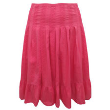Plus Size Coral Pink 100% Cotton Knee Length Panelled Tummy Control Skirt 14 24