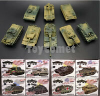 8 pcs WWII Military Army Battle Tank Part II 4D Assembled Model Kit 1:72 Scale