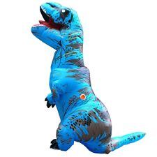 T Rex Inflatable Dinosaur Costume Cosplay Jurassic Blow Up Outfit Adult Kids