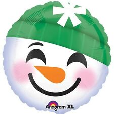 Party Supplies Winter Christmas Emoji Face Snowman Foil Balloon