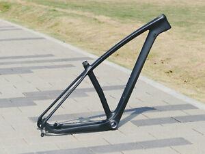 """Carbon Matt Mountain Bike Frame Bsa 29ER MTB Frame 19"""" QR 135 12 * 142mm + Axle"""