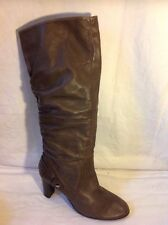 John Lewis Brown Knee High Leather Boots Size 41