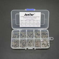 Practical 360pcs M2 A2 SS Phillips Pan Head Machine Screws Hex Nuts Kit NO.8201