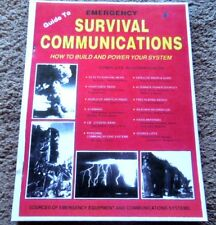 A Guide To  Emergency SURVIVAL COMMUNICATIONS Build and Power MANUAL 182 pages