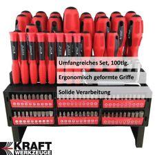 XXL Schraubenzieher Schraubendreher KRAFT Set Torx Bit Set Werkzeug 100tlg