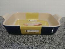 Le Creuset Stoneware Rectangular Dish, 12.5 by 8.25 Inch, Indigo > NEW <