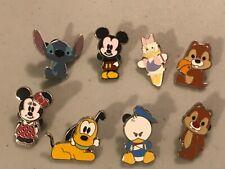 New ListingDisney Trading Pins Set of 8 Mickey Minnie Pluto Stitch Chip Dale Donald Daisy