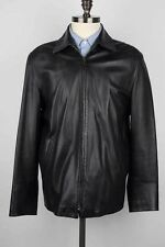 Ralph Lauren Purple Label Black Lambskin Leather Jacket, Sz M