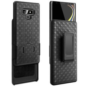 Samsung Galaxy Note 9 - HARD HOLSTER KICKSTAND CASE COVER with BELT CLIP BLACK