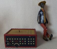 Rare Early Lehmann Tin Wind-up Oh My! Alabama Coon Jigger Toy - Original Box!