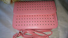 Colore Rosa Chiaro in Pelle con Borchie Imitazione Handbag