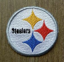 Iron On Sew On Patch Pittsburgh Steelers logo circle Handmade Embroidery
