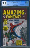 Amazing Fantasy 15 (Marvel) CGC 9.8 White Pages Facsimile Edition Reprint