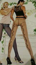 Strumpfhose Trasparenze sexy Tattoo Muster Paradise Gr.4 38-44