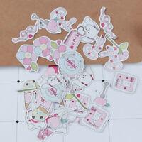 45pcs/lot Kawaii Cartoon White Rabbit Paper Diary Mini box Stickers DIY Stick%f