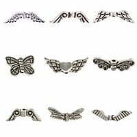 20PCS Double Wing Angel Wings Charms Tibetan Silver Charms Float Beads 5*26mm