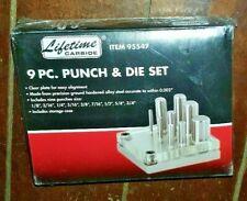 9pc Punch Amp Die Set 18 316 14 516 38 716 12 58 Amp 34 95547