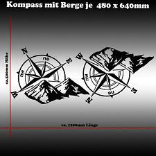 Kompass Berge Windrose Offroad Aufkleber Tuning Sticker JDM Sticker Wohnmobil