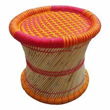 "14"" inch Eco-Friendly Cane Bar Bamboo Meditation Stool Orange Color 1 Piece"