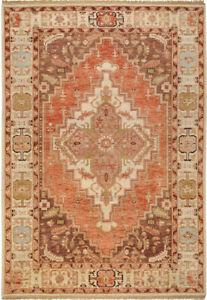 Surya Hand Made Wool Rust Brown 2x3 Persien Area Rug - Approx 2' x 3'