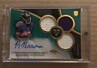2015 BRESHAD PERRIMAN ROOKIE RC AUTOGRAPH 2 COLOR 7/50 BUCCANEERS TRIPLE THREADS