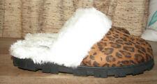 Comfortview faux suede leopard print slippers,Women's XXL wide(11/12 wide)