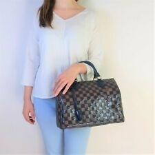 Louis Vuitton Limited Edition Blue Damier Paillettes Speedy 30 Bag