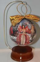 "Holiday Barbie Christmas Ornament and Stand 4"" Mattel 1997"