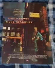 DAVID BOWIE ZIGGY STARDUST 1990 REISSUE PROMO POSTER AWESOME!