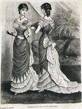 MODE ILLUSTREE SEWING PATTERN Feb 6,1881- BALL GOWNS
