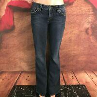 Silver Womens Aiko Dark Boot Cut Jeans Tag 31x35 Actual 32x36