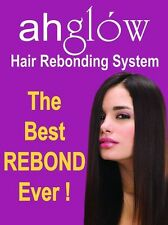 Ahglow Hair Straight Rebonding Cream Set Permanent Straightener w/ Keratin