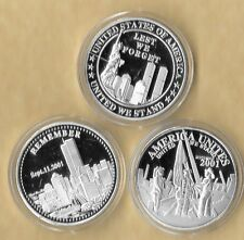 Lest We Unites Remember 911 9-11 Challenge Commemorative Medallion Silver Coin