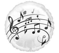 """MUSIC PARTY SUPPLIES BALLOON 17"""" MUSIC NOTES AND FUN ANAGRAM FOIL BALLOON"""