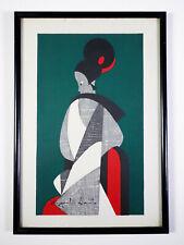 Kiyoshi Saito Woodblock Print Bunraku Kimono Maiko Edo Ukiyoe Art Work Signed
