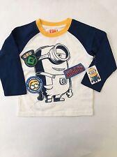 NEW Despicable Me Minion Toddler Boy T Shirt Size 3T