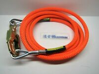 "SPYDER CLIMB RIGHT 5/8"" X 12' WIRE CORE LANYARD W/ DOUBLE LOCKING SWIVEL SNAP"