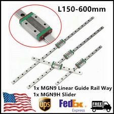 MGN9 Mini Linear Guide Rail Way L150-600mm w MGN9H Slider Linear Motion Guide