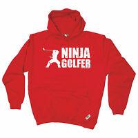 Ninja Golfer HOODIE golf golfing humour hoody top funny birthday gift present