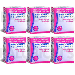 Glucose Test Strips - Prodigy 300 strips (6 boxes of 50) exp full year plus