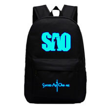 Anime Sword Art Online SAO Backpack School Bag Sport Laptop Bags Luminous Black